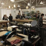 Compound gallery and print shop at Southern Graphics Council International Conference 2014. Photo by Bernd Hildebrandt.