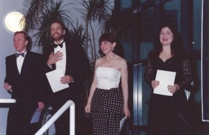 David Prestley performing at the Vancouver Opera Tour launch in 1993.