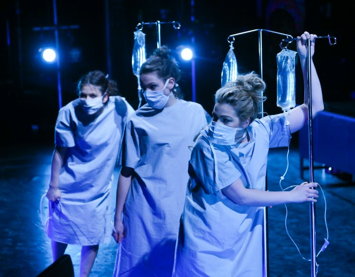 A Dream Play is designed by Zsofia Opra-Szabo as her MFA in Theatre Design thesis production. Photo by Ed Ellis.