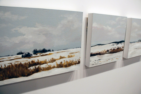 The Last Sight, selection of oil on masonite paintings by Ying Yu
