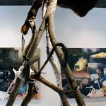 Mind Frame - Tiffany Adair - wood, fur, rope and hair - Sculpture