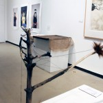 Untitled - Tiffany Adair - wood, sticks, thread, fur, nails, screws