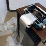 An Original Novel - Jonathan Sherrer - typewriter, desk, chair and monitor