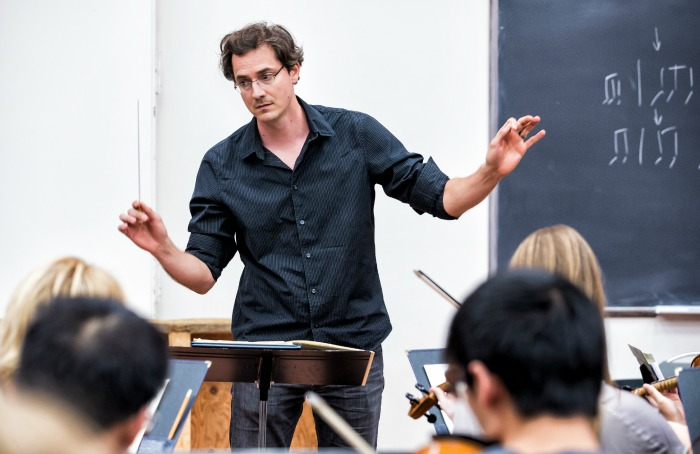 Petar Dundjerski, University of Alberta Symphony Conductor. Photo by Curtis Comeau.