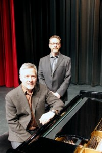 Roger Admiral at the piano with Howard Bashaw. Photo by TJ Jans.