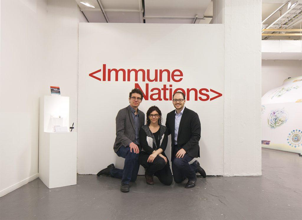 Immune Nations co-leads Sean Caulfield, Natalie S. Loveless and Steven J. Hoffman