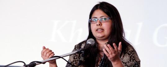 Shumaila Hemani performing at I-Week 2014 at the University of Alberta. Photo by Terah Jans.
